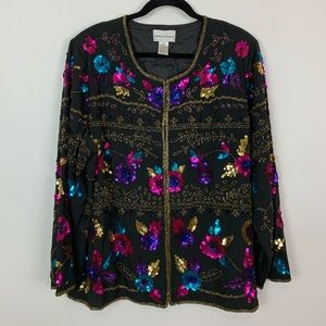 Drapers & Damon's  2x sequin car coat jacket